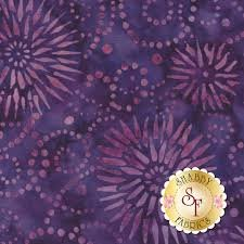 Wilmington Batiks - Flower Burst Purple/Red