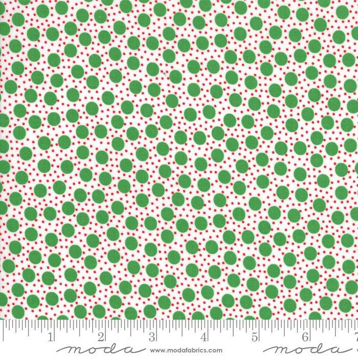 Red Dot Green Dash - Snowstorm Light Green