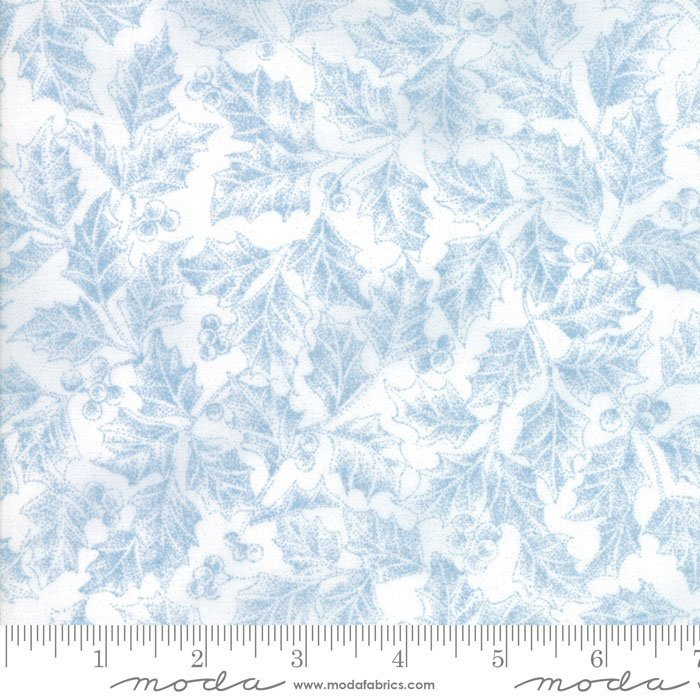 Forest Frost II - Icy Blue Holly Leaves