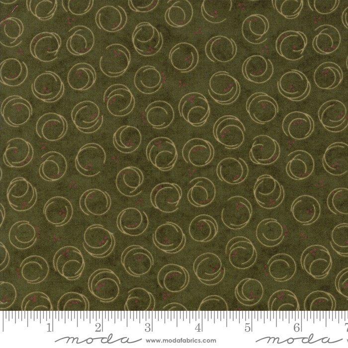 Forever Green - Circle Print Dark Green