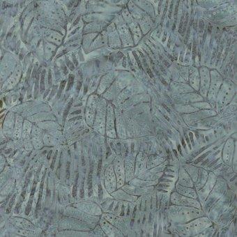 Sumatra Batik - Slate blue bradford leaves