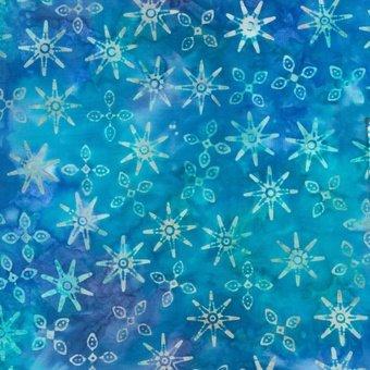 Sumatra Batik - Blue/blue green stars