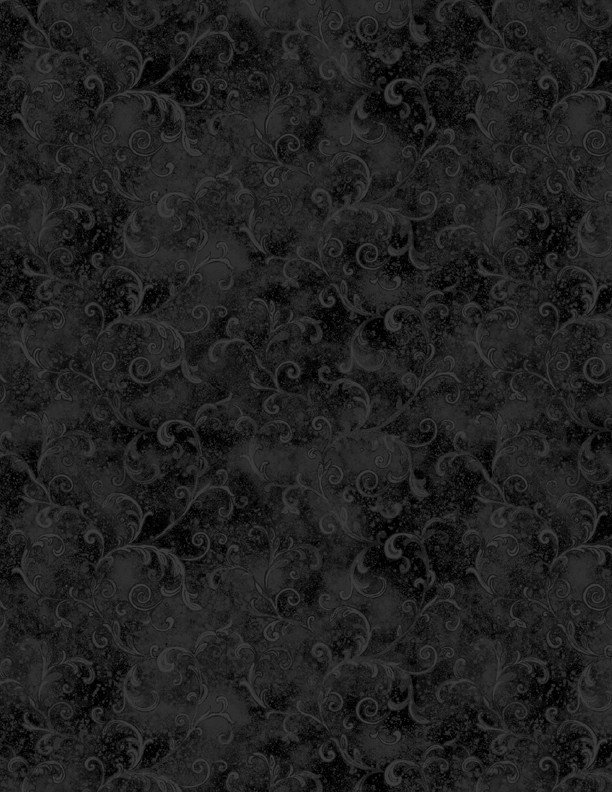 Flannel Wide Back - 108 - Black Filigree