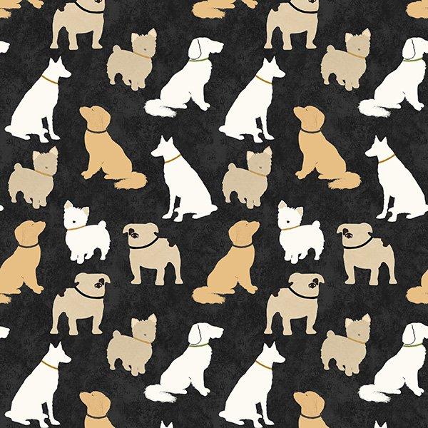 Dog Wisdom- Dogs on Black