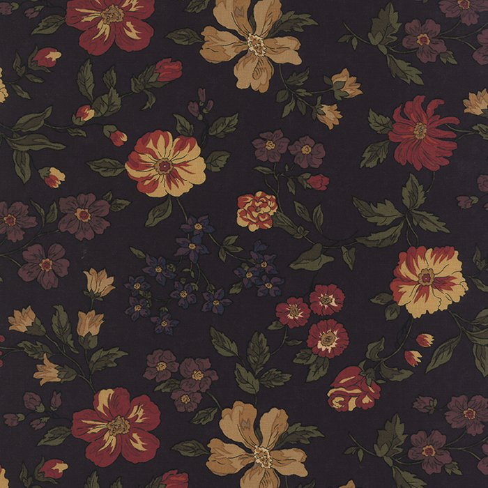 Bees n Blooms Blooms on Black