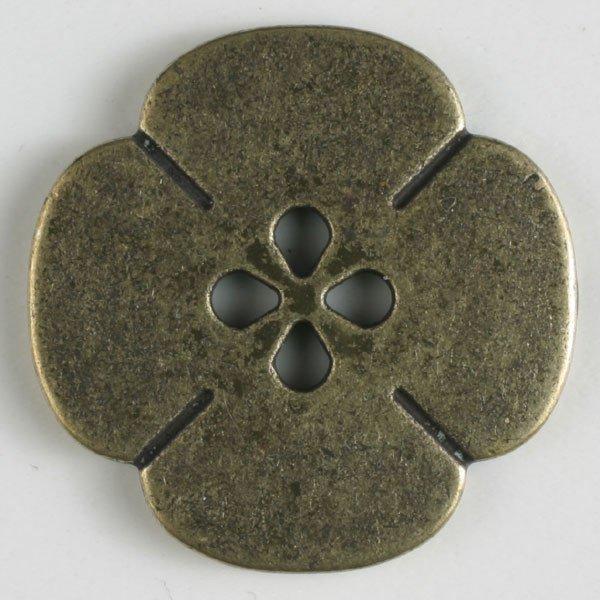 Metal Button - Brass Flower