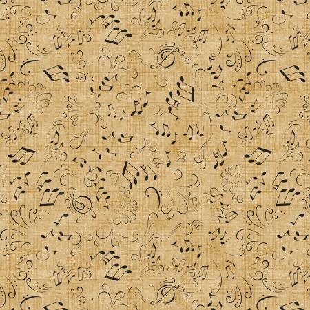 Classically Trained - Tossed Notes Golden Tan