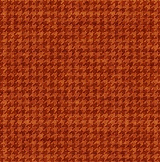 Houndstooth Basic - Rust