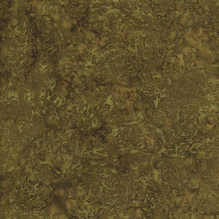 Fabric Batik Coral Shades of Dark Green