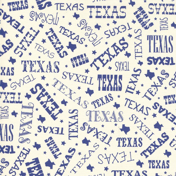 Fabric Best Of Texas 11243-13 Cr Blue