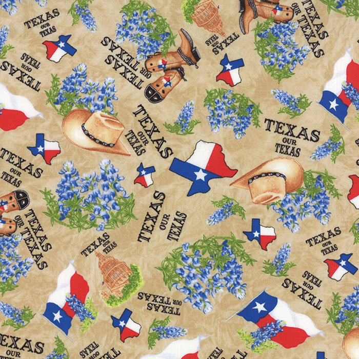 Fabric Best Of Texas 11272-12 Tan
