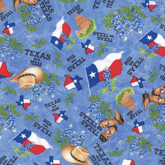 Fabric Best Of Texas 11272-14 Blue