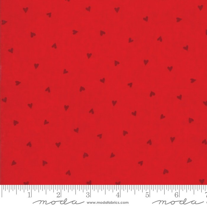 Fabric Love Grows Romantic Red 19863-11