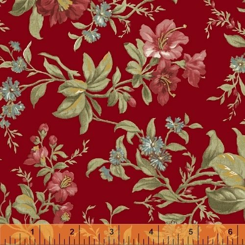 Fabric Legendary Loves Floral 42968-1 Red