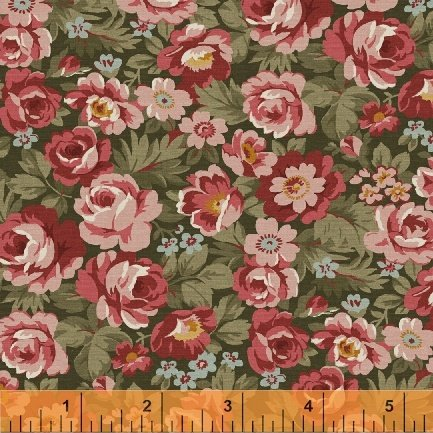 Fabric Legendary Loves Tossed Floral 42969-4 Green