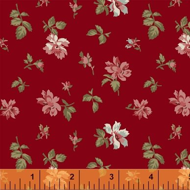 Fabric Legendary Loves Spaced Floral 42970-1 Red