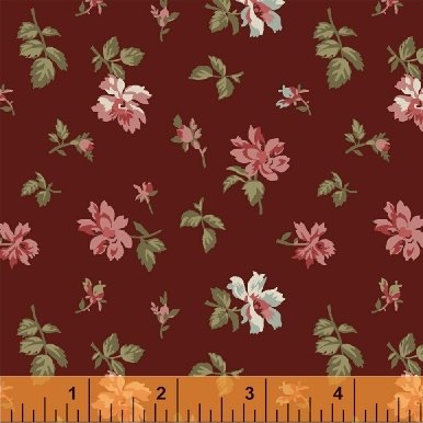 Fabric Legendary Loves Floral 42970-3 Wine