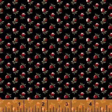 Fabric Legendary Loves Flower Bud 42971-2 Black