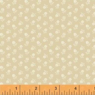 Fabric Legendary Loves Flower Bud 42971-8 Sand