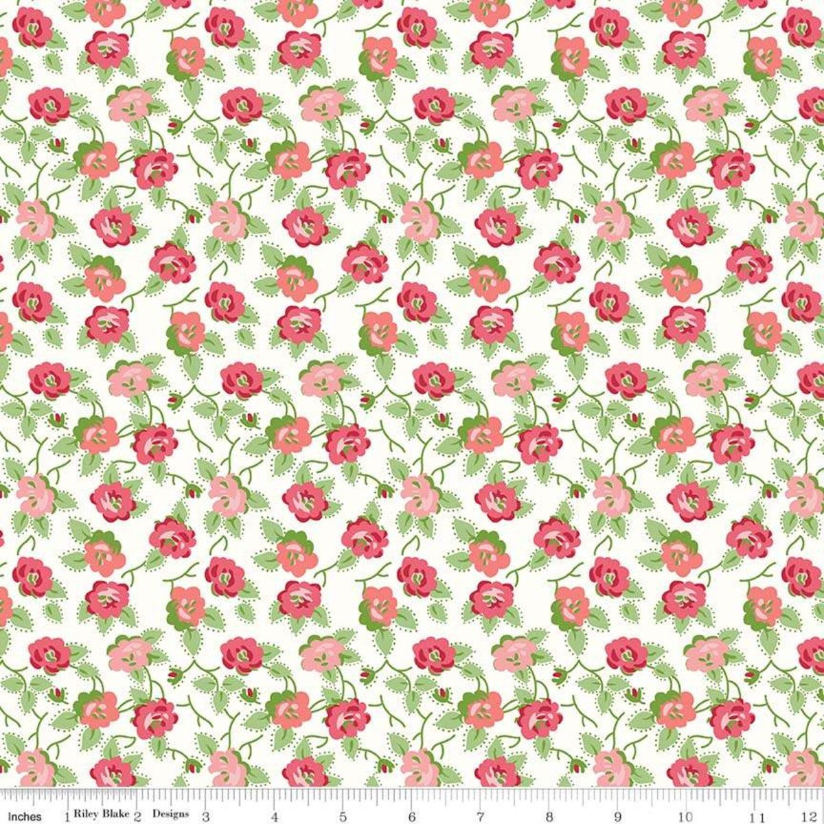 Fabric Granny Chic Dishes C8513-Pink
