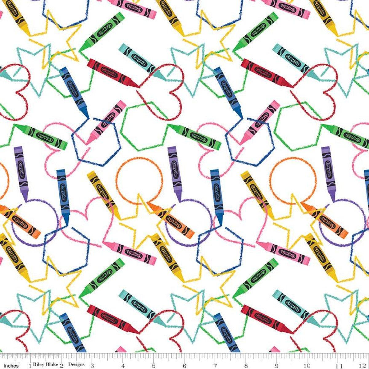 Fabric I Dream in Color Main C8800-White