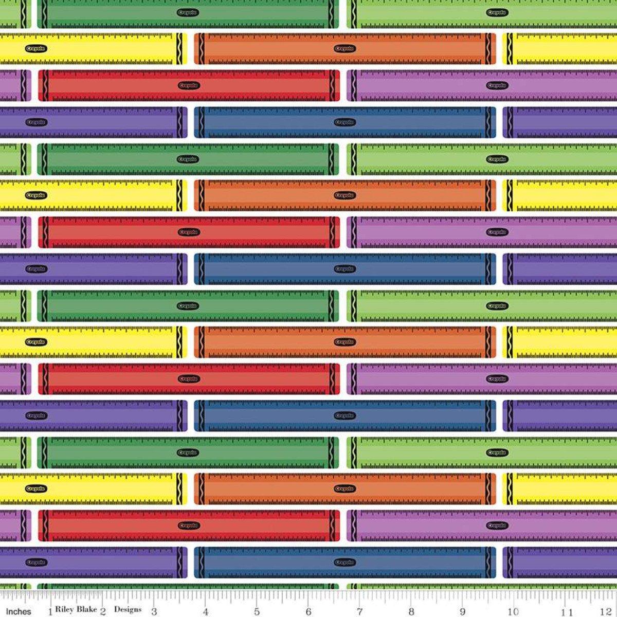 Fabric I Dream in Color Ruler C8802-White