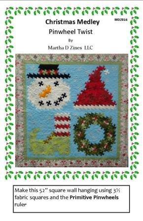 Pattern Christmas Medley Pinwheel Twist Pattern MDZ016