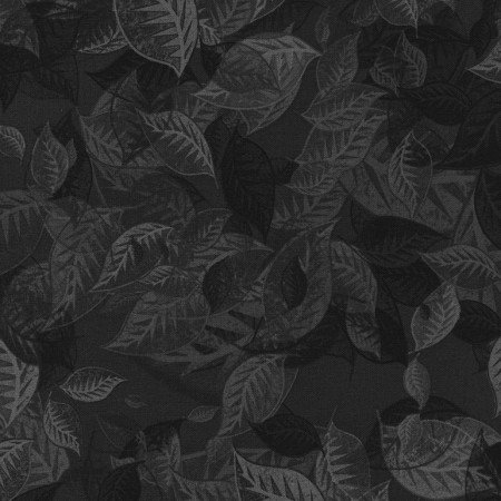 Fabric Overlapping Leaves Small JN-C4057-Black