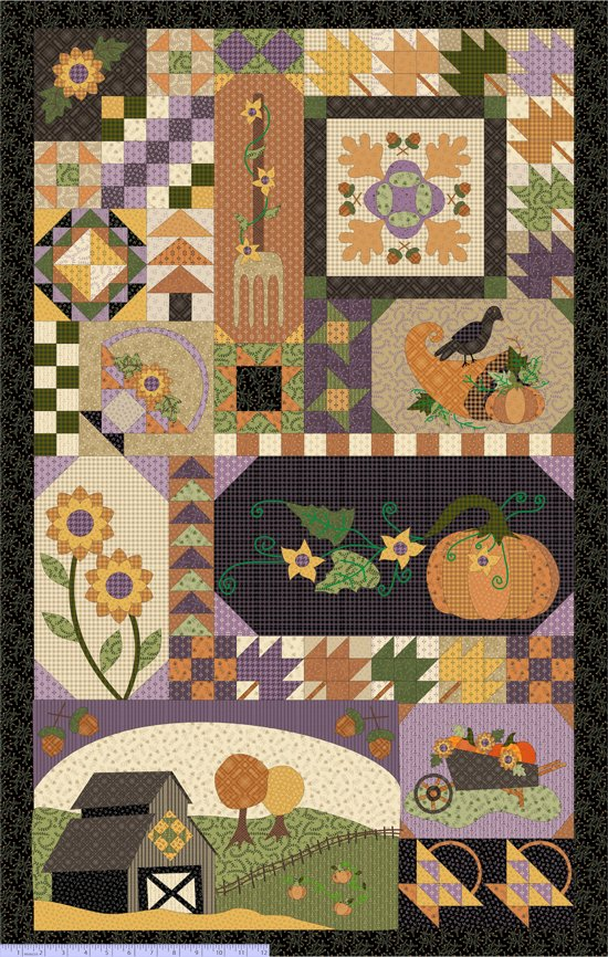 Fabric PANEL Patches of Autumn 8455-0528