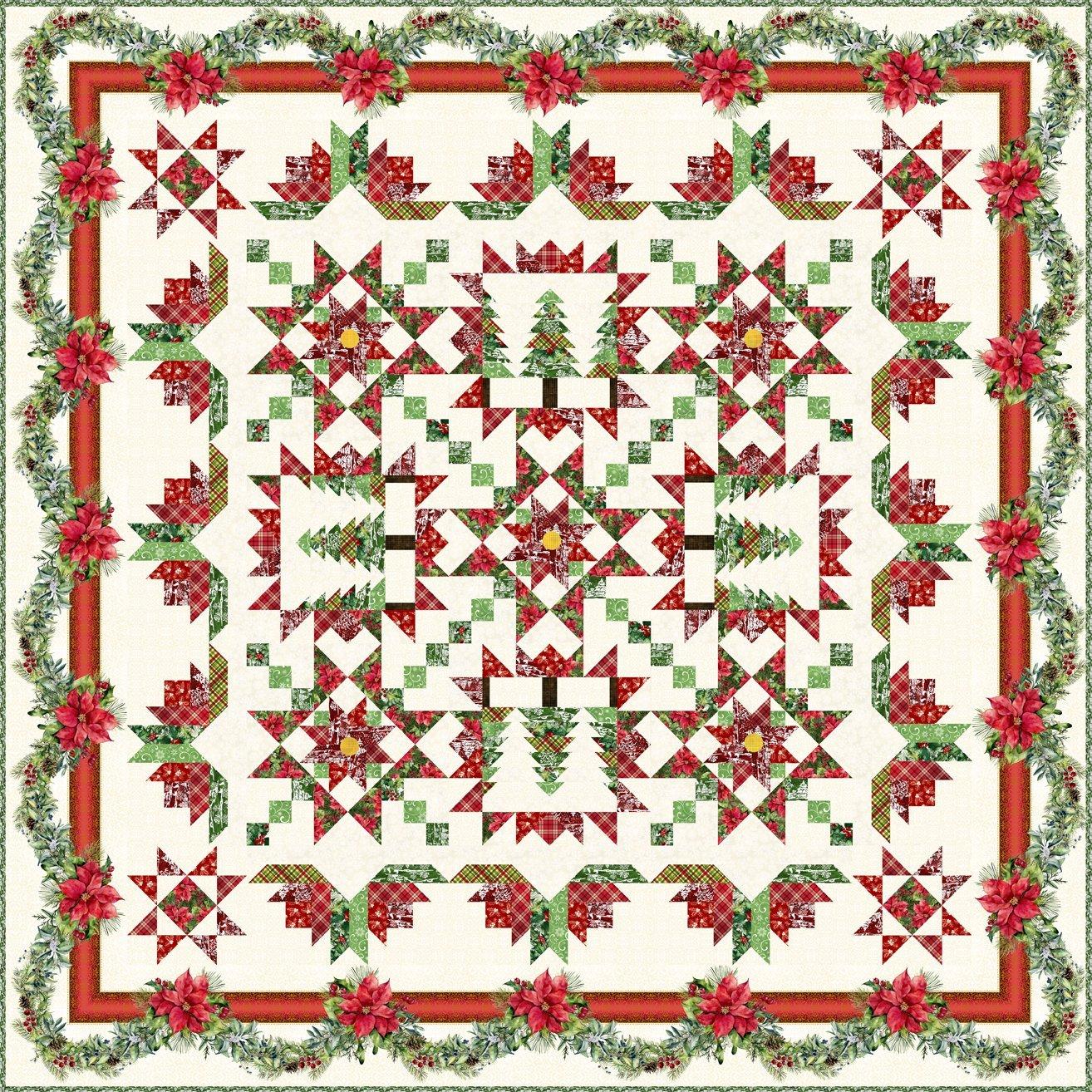 A Poinsettia Winter Quilt BOM Registration