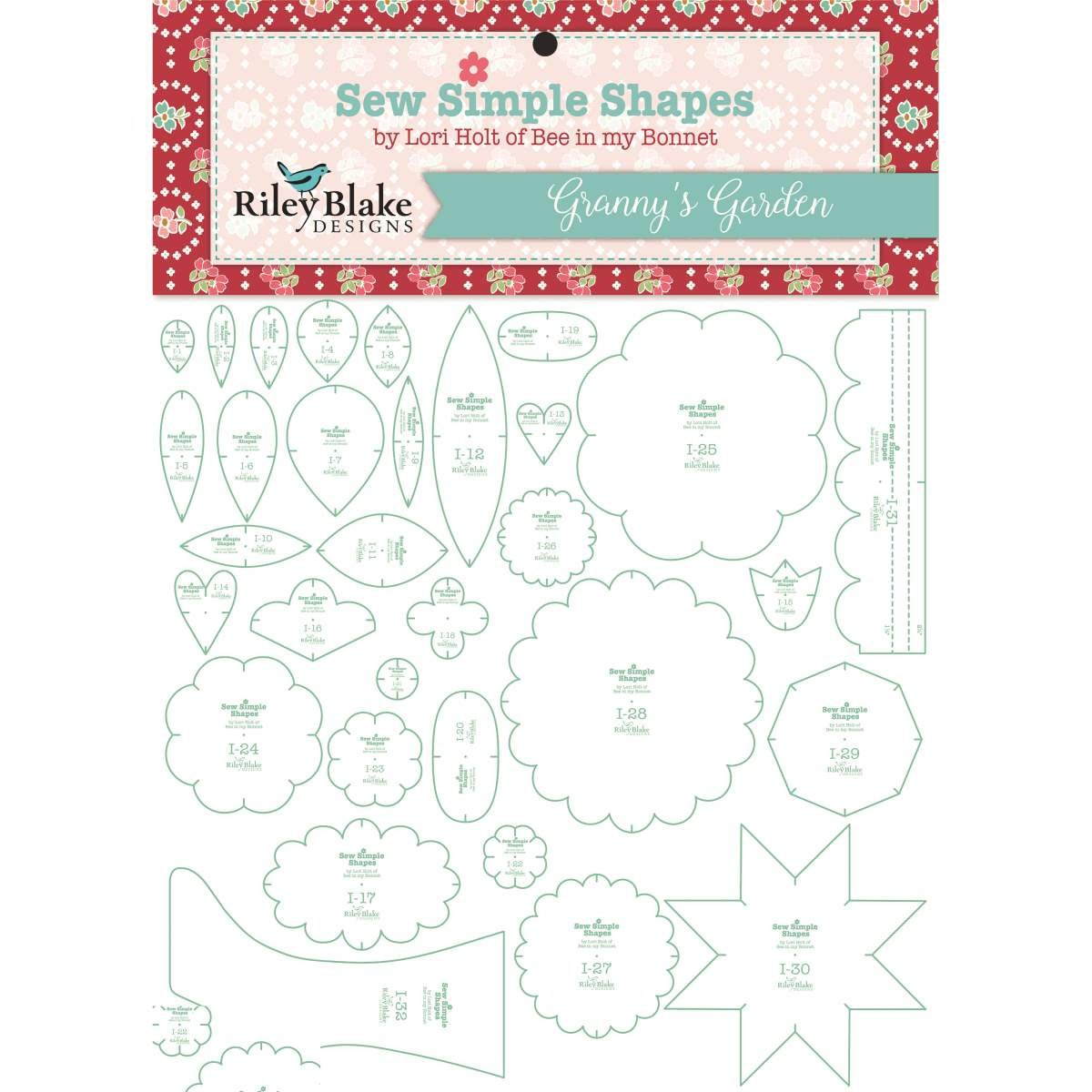 Notions Lori Holt Granny's Garden Sew Simple Shapes ST-2674