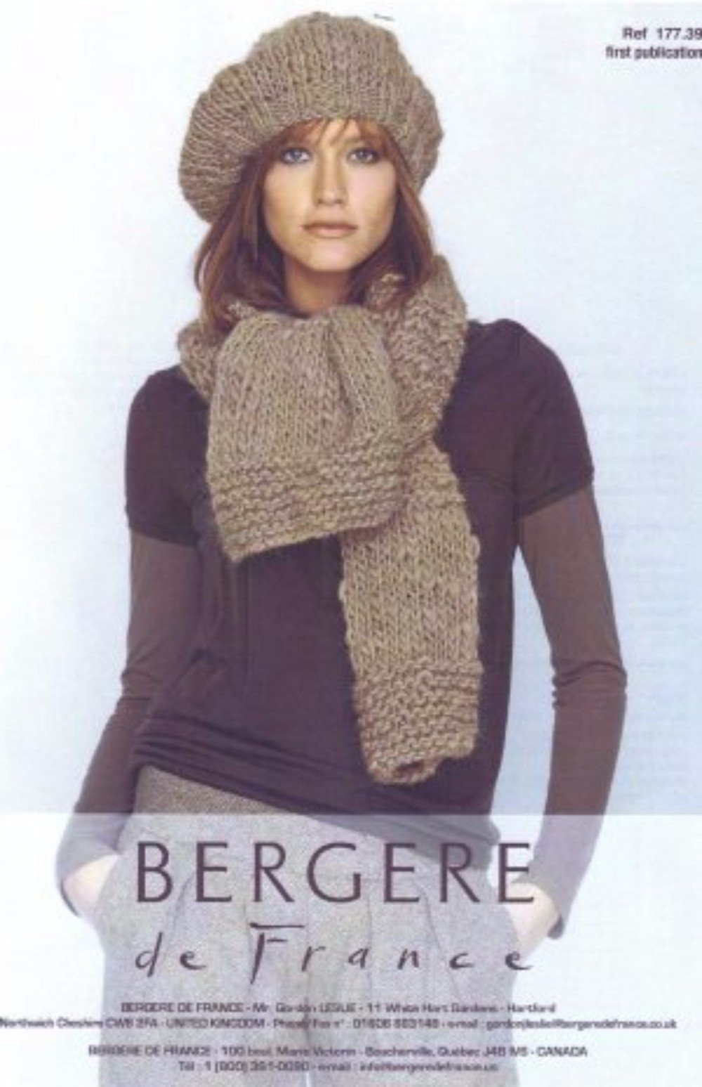 Scarf and Beret by Bergere de France