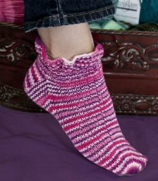 Ruffled Up Sock by Susie Bonell
