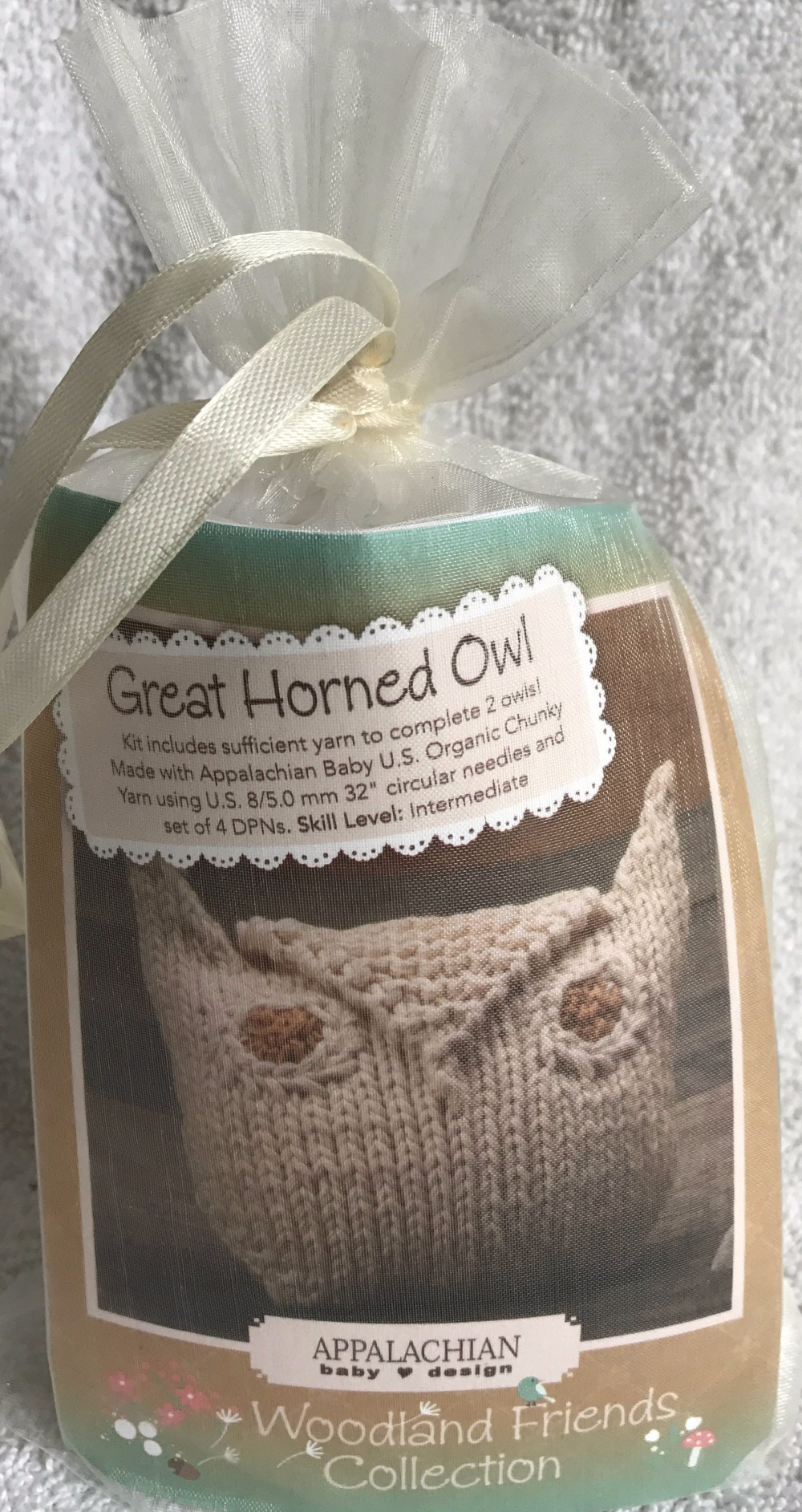 Great Horned Owls Kit by Appalachian Baby Design