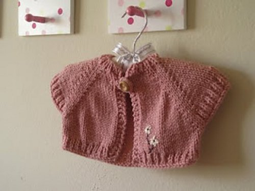 Quick Knit Baby Shrug by  Natalie Haban