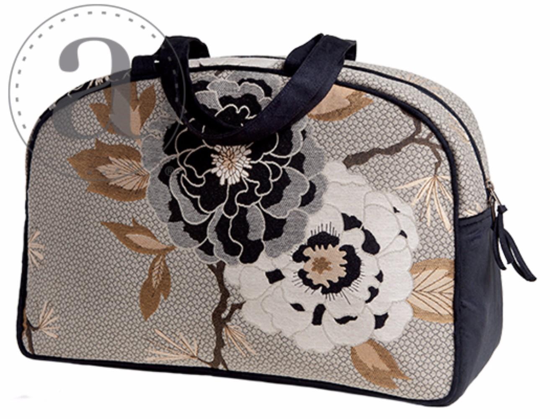 Atenti Overnight Silver Dahlia Bag