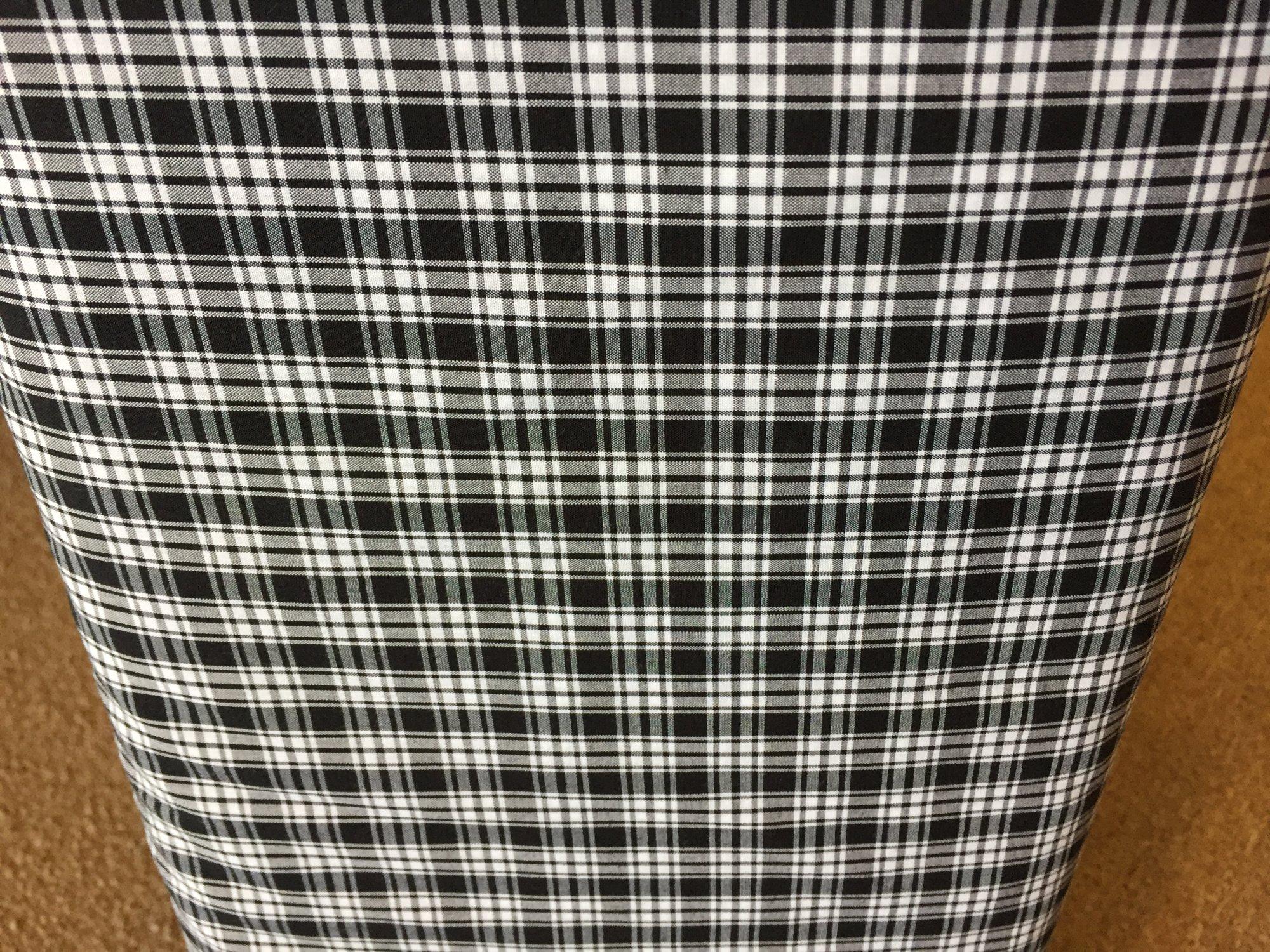 Tartan Cotton Black and White