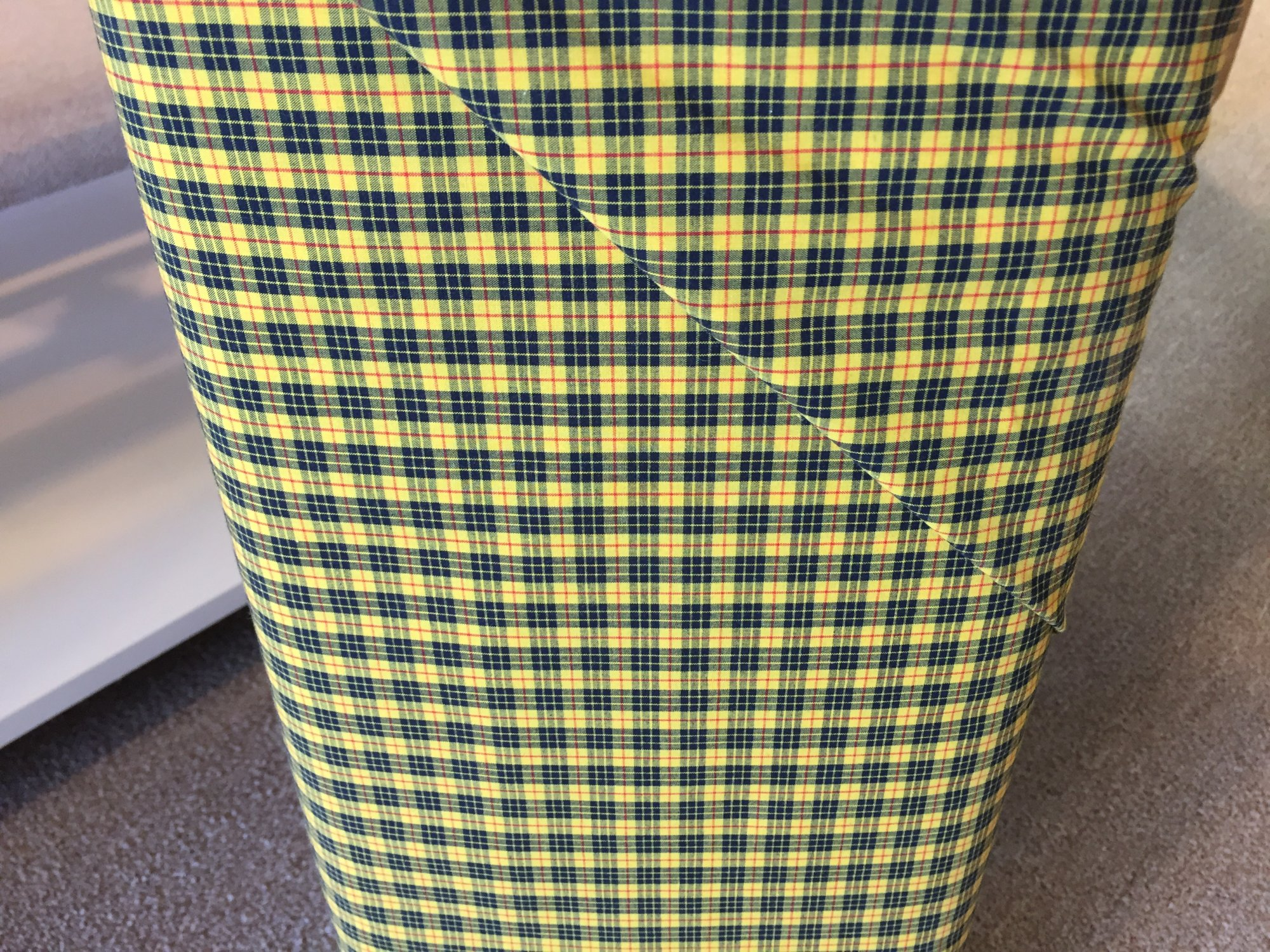 Tartan Cotton Black and Yellow 60 Wide