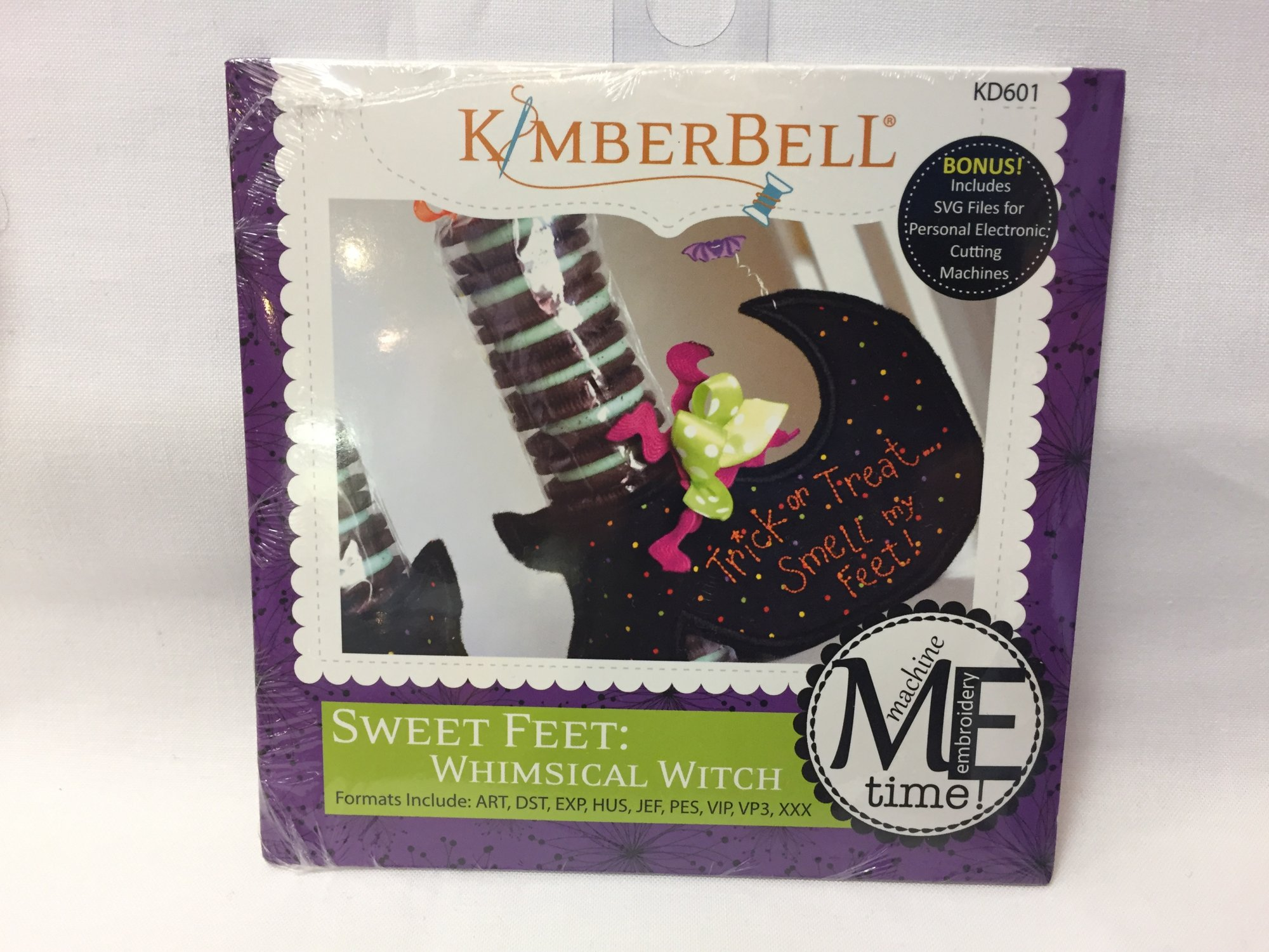 CD Sweet Feet: Whimsical Witch Machine Embroidery
