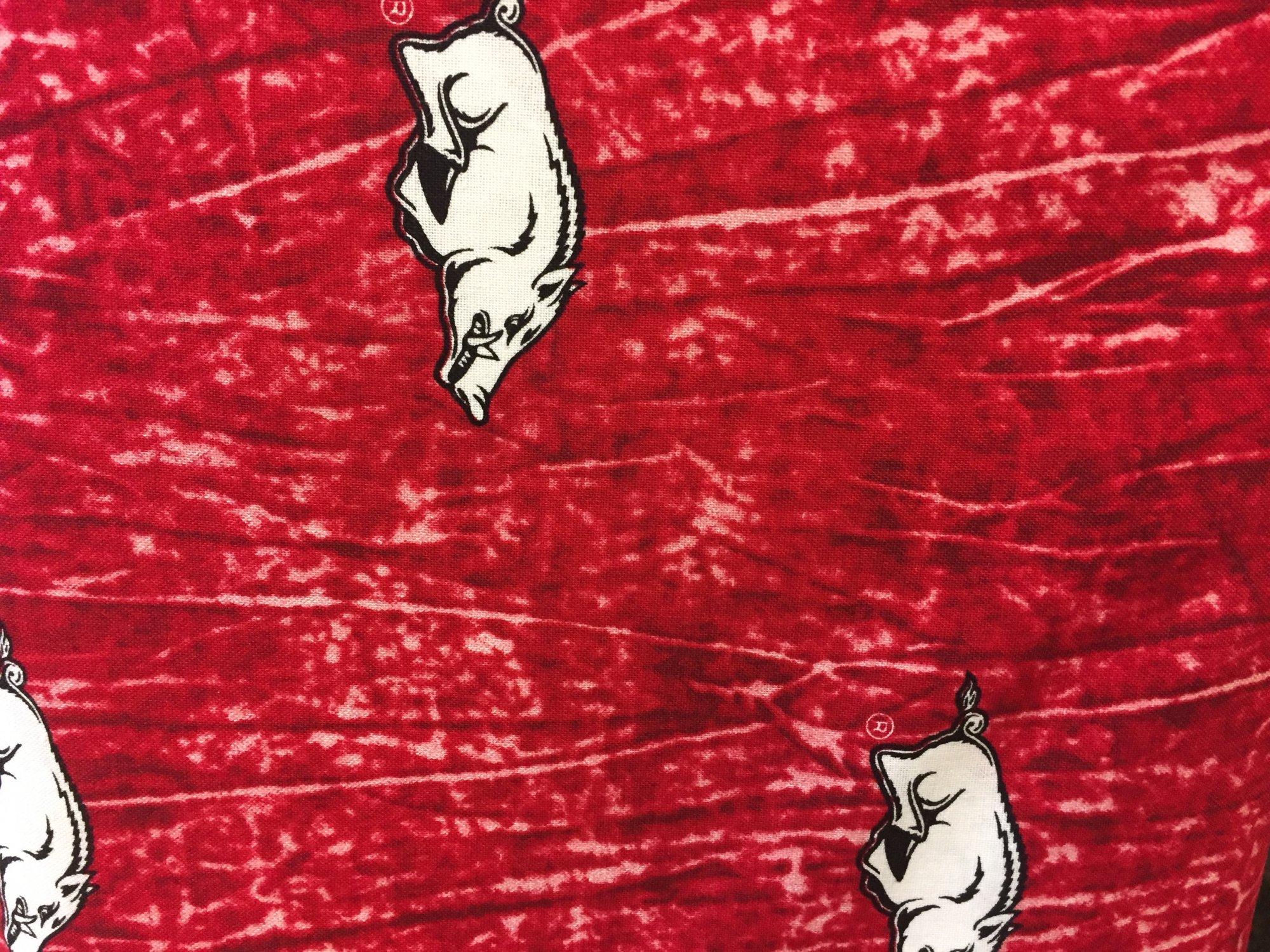 University of Arkansas Tie Dye Print Cotton