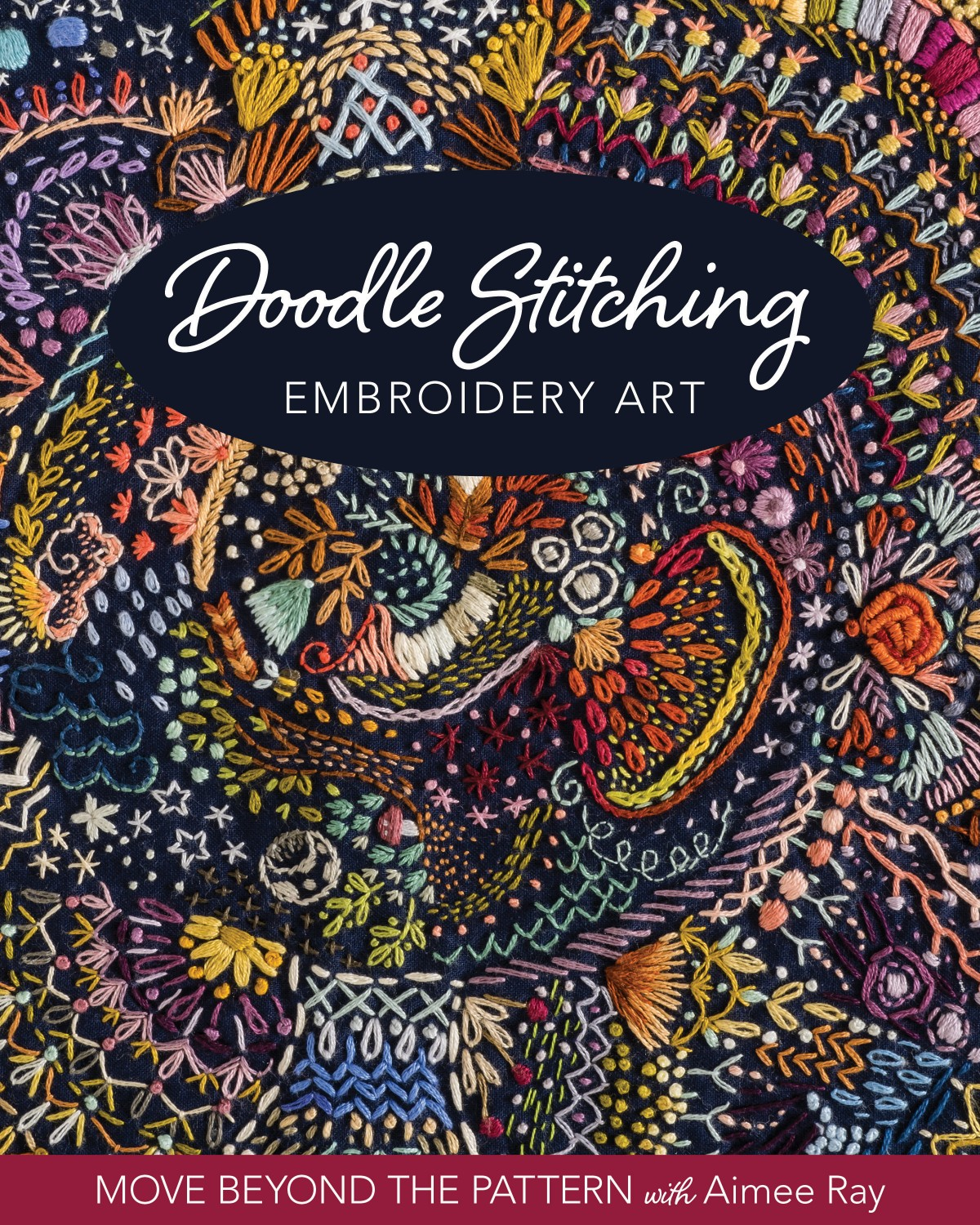 Doodle Stitching Embroidery Art ~RELEASE DATE August 25, 2020~