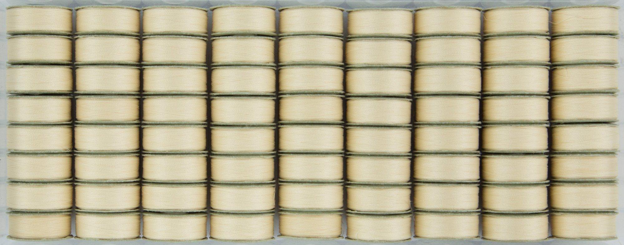 Bobbin L Style Prewound Superbobs Cream 72ct