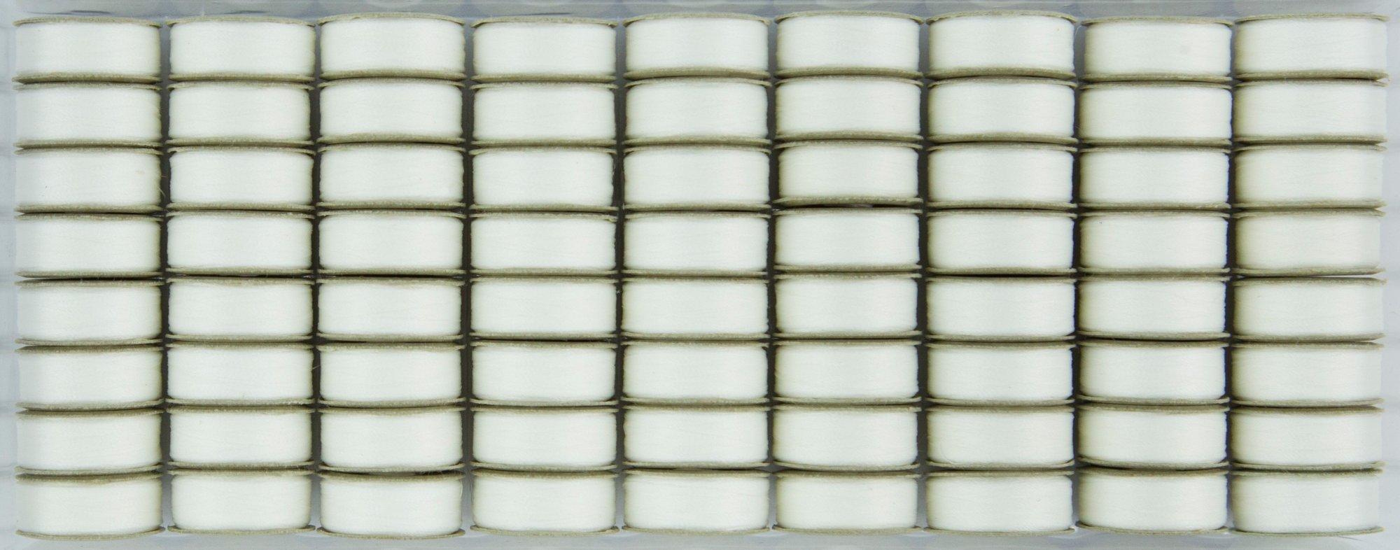Bobbin L Style Prewound SuperBobs Lace White 72ct