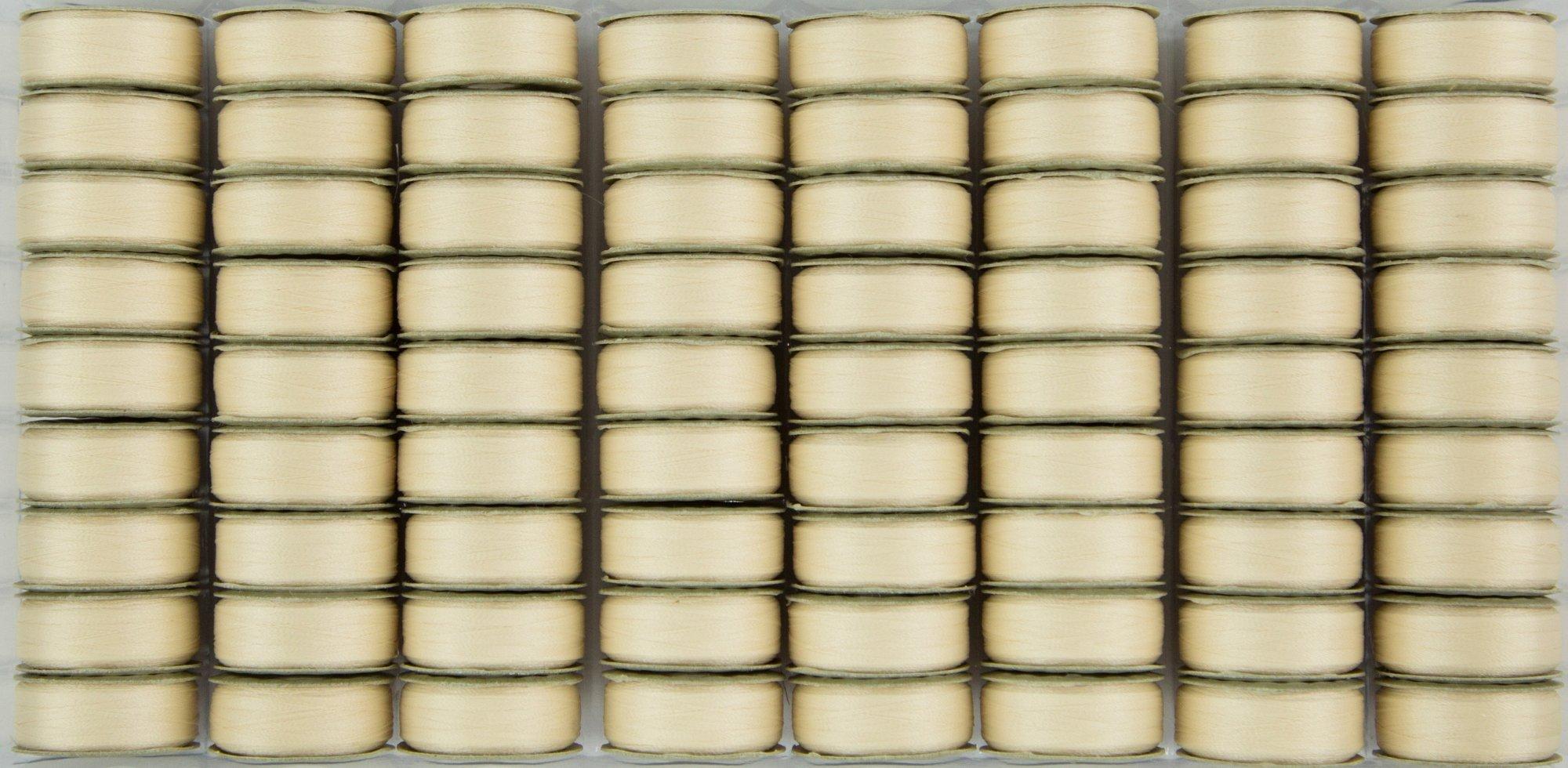 Bobbin M Style Prewound SuperBobs Cream 72ct