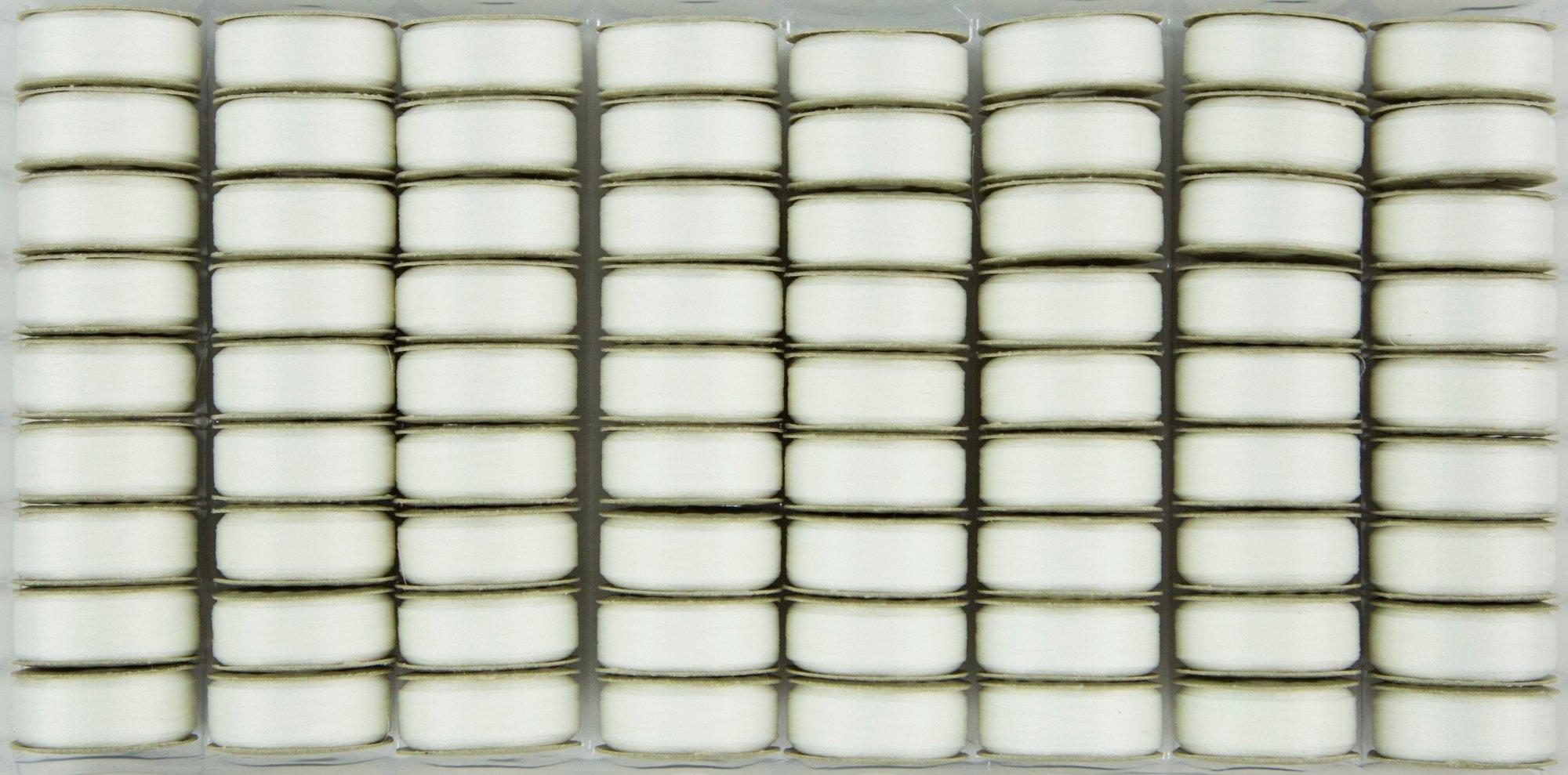 Bobbin M Style Prewound SuperBobs Lace White 72ct