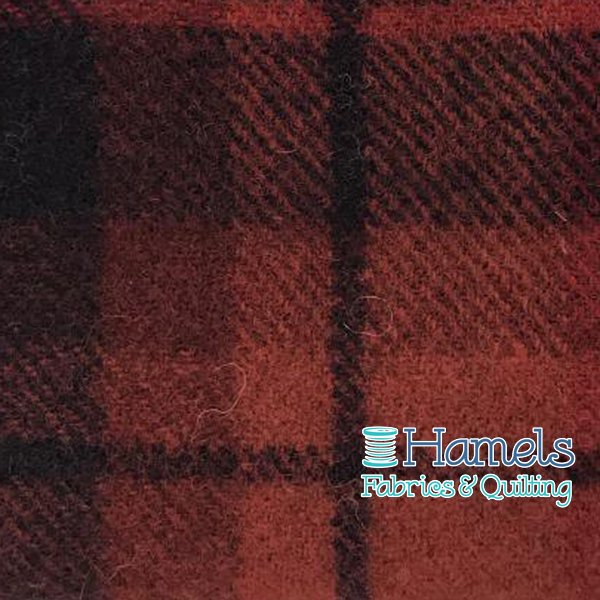 Wool Piece - Egyptian Red Picnic Plaid