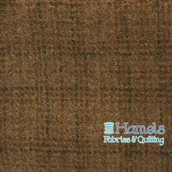Wool Piece - Golden Pond Tan Blue Plaid