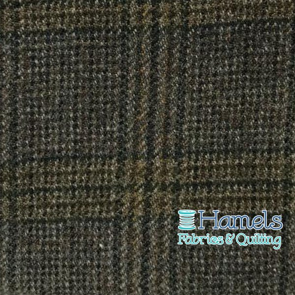 Wool Piece - Green Tan Plaid