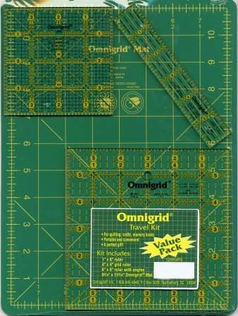 Omnigrid Travel Kit 12WG Mat With OG6A OG4G & OG1 Rulers