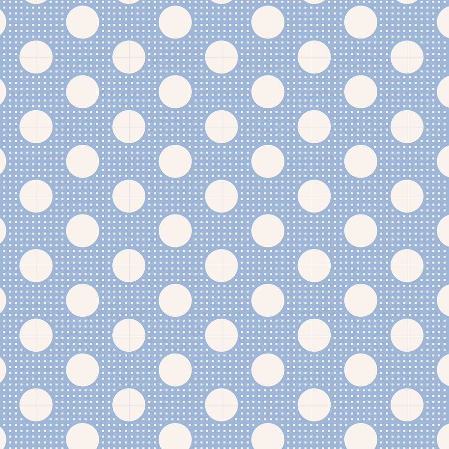 Tilda Basics Medium Dots Blue